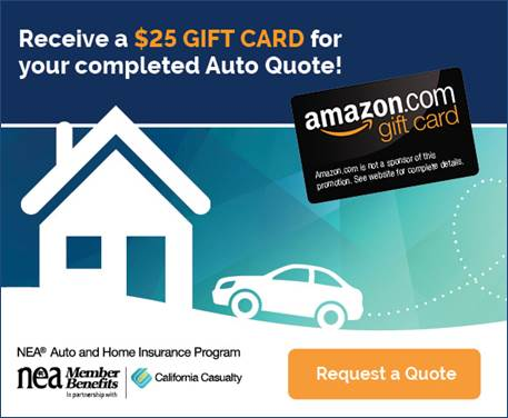 For a limited time, our friends at California Casualty are offering NJEA members a free $25 gift card when you complete a new auto quote. Click Here<readyforquote.com/bonnie> to get started.